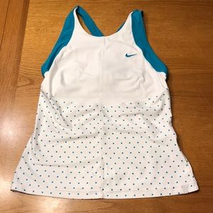 Nike S tennis tank, blue and white